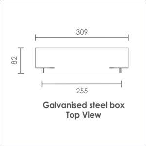 Lotis galvanised steel wall box