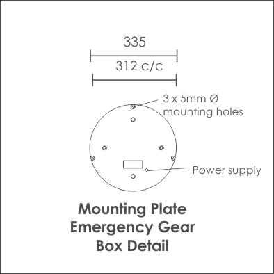 Solo Emergency gear mounting plate
