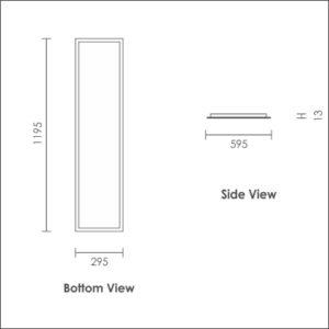 Luxon 300x1200 bottom & side view
