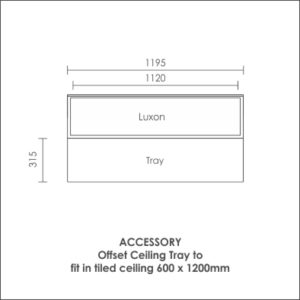 Luxon 300x1200 accessory offset ceiling tray