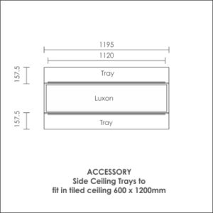 Luxon 300x1200 accessory side ceiling tray
