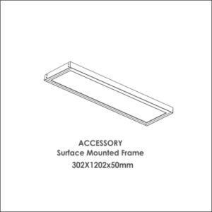 Luxon 300x1200 accessory surface mounted frame