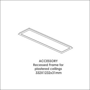 Luxon 300x1200 accessory recessed frame for plastered ceiling