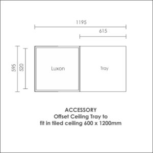 Luxon 600x600 accessory offset ceiling tray
