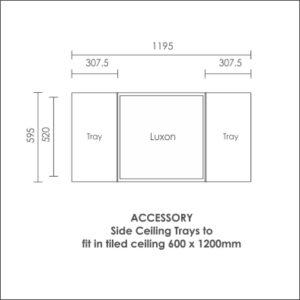 Luxon 600x600 accessory side ceiling tray