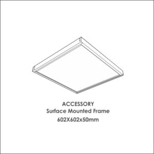Luxon 600x600 accessory surface mounted frame