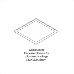 Luxon 600x600 accessory recessed frame for plastered ceiling