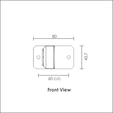 Roto wall mount top view