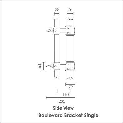 Boulevard Bracket Single