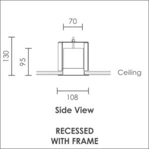Linear Pro recessed with frame