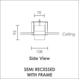 Linear Pro semi recessed with frame