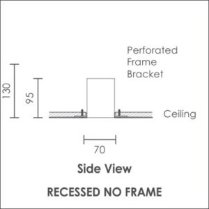 Linear Pro recessed no frame